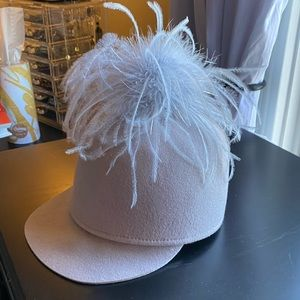 Eugenia Kim feather poof hat